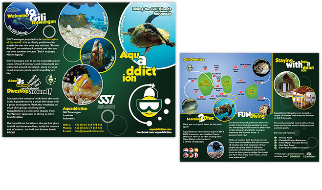 Aquaddiction TriFold Brochure