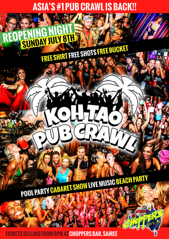 Koh Tao Pub Crawl Poster