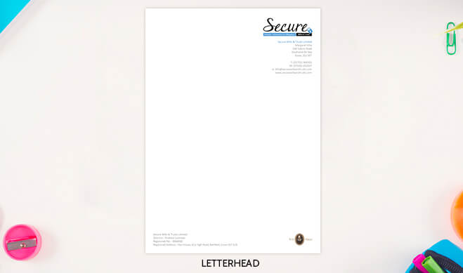 Secure Wills Letterhead