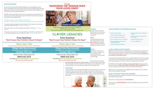 Clover Legacies Leaflet